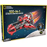 NATIONAL GEOGRAPHIC Ultimate Construction Engineering Set - Build 100 Unique Motorized Models: Helicopters, Cars, Animals and More - STEM Learning
