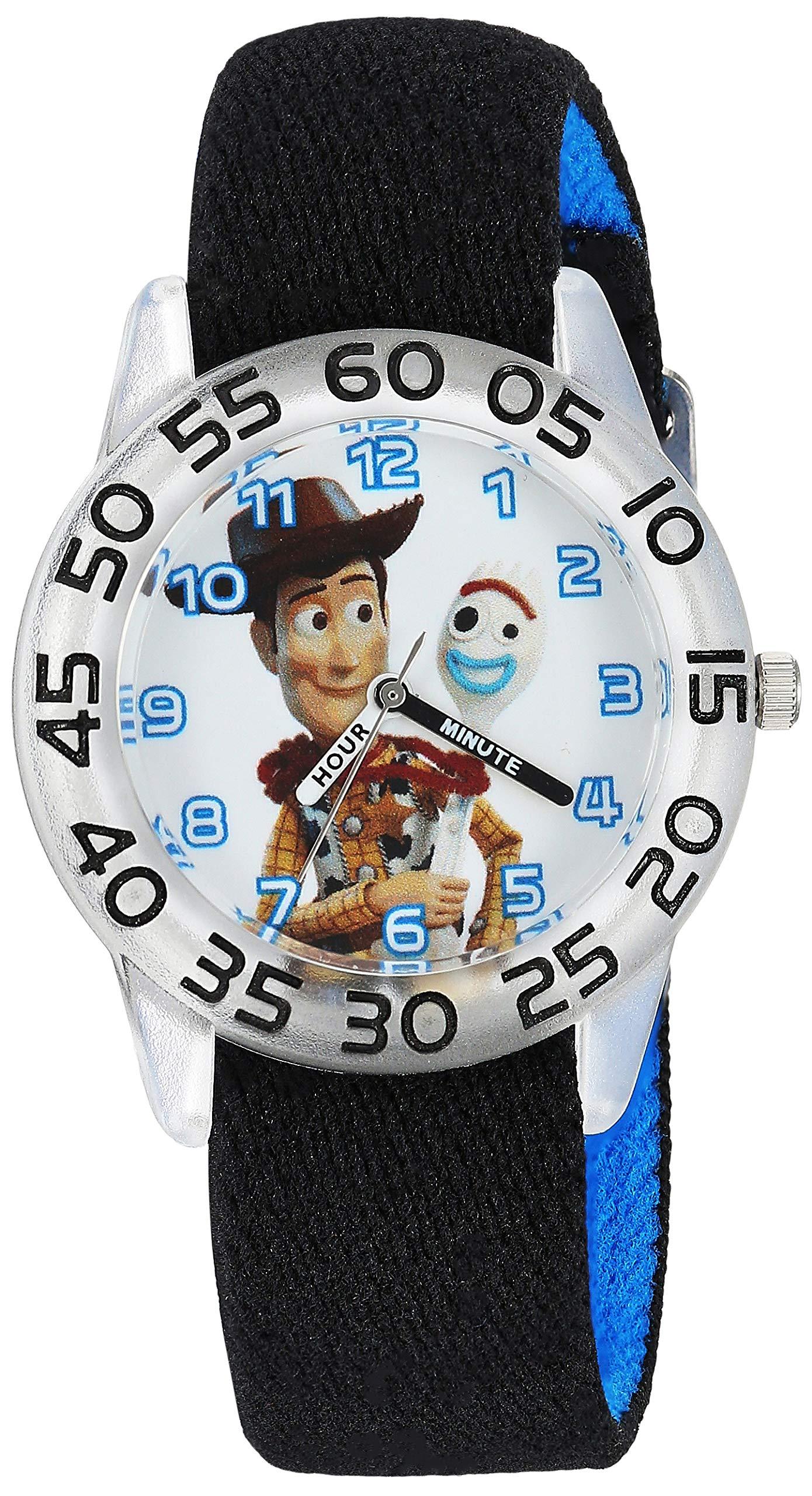 Disney Boys Toy Story 4 Analog-Quartz Watch with Nylon Strap, Black, 16 (Model: WDS000712)
