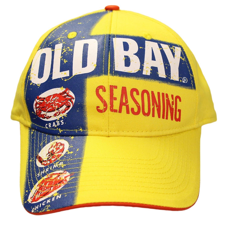 ffb6b01a3ae Amazon.com  Old Bay Seafood Seasoning Label Men s Baseball Cap Hat (one  Size