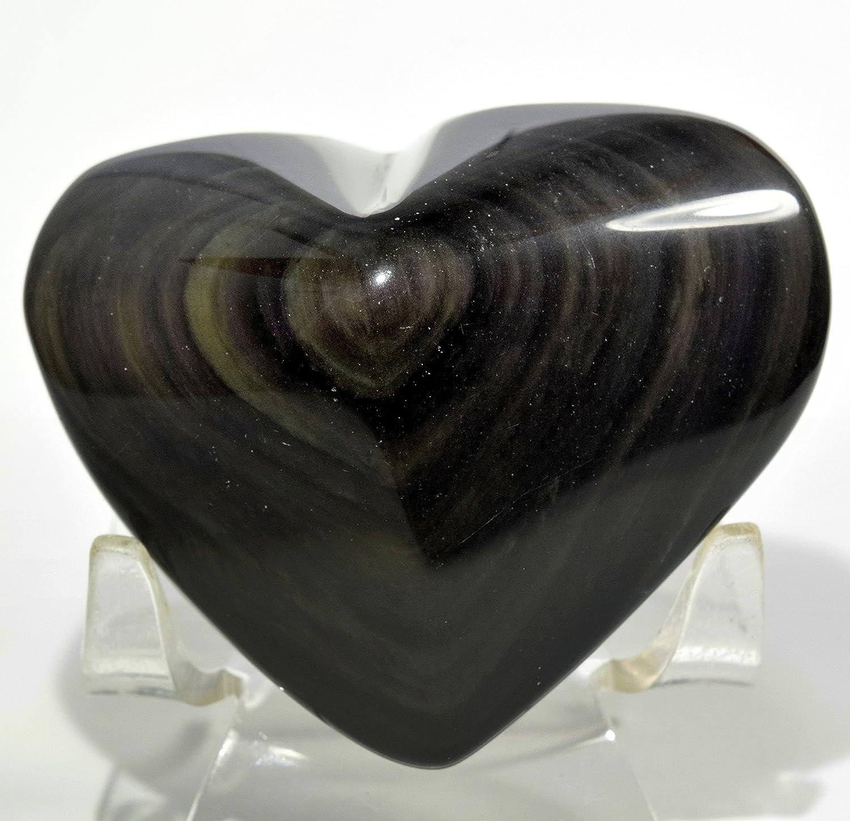 Rainbow Obsidian Heart Decor