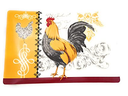 Amazon Com French Farmhouse Country Rooster Vinyl Kitchen Table
