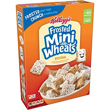 Kelloggs Breakfast Cereal, Frosted Mini-Wheats, Original, Low Fat, Excellent Source