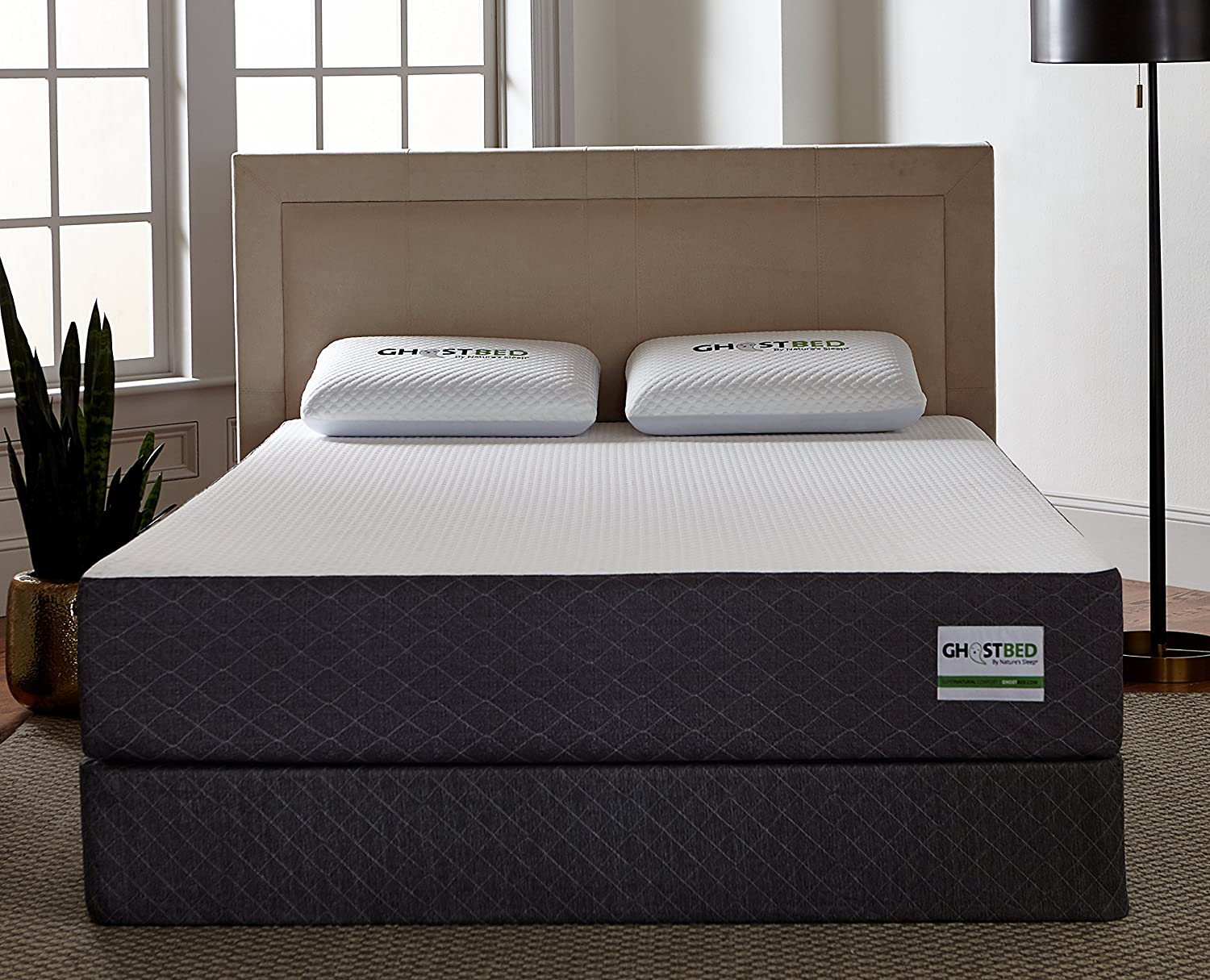 GhostBed Mattress-Twin 11 Inch-Cooling Gel Memory Foam-Mattress in a Box-Most Advanced Adaptive Gel Memory Foam Coolest Mattress in America-Made in the USA Industry Leading 20 Year Warranty
