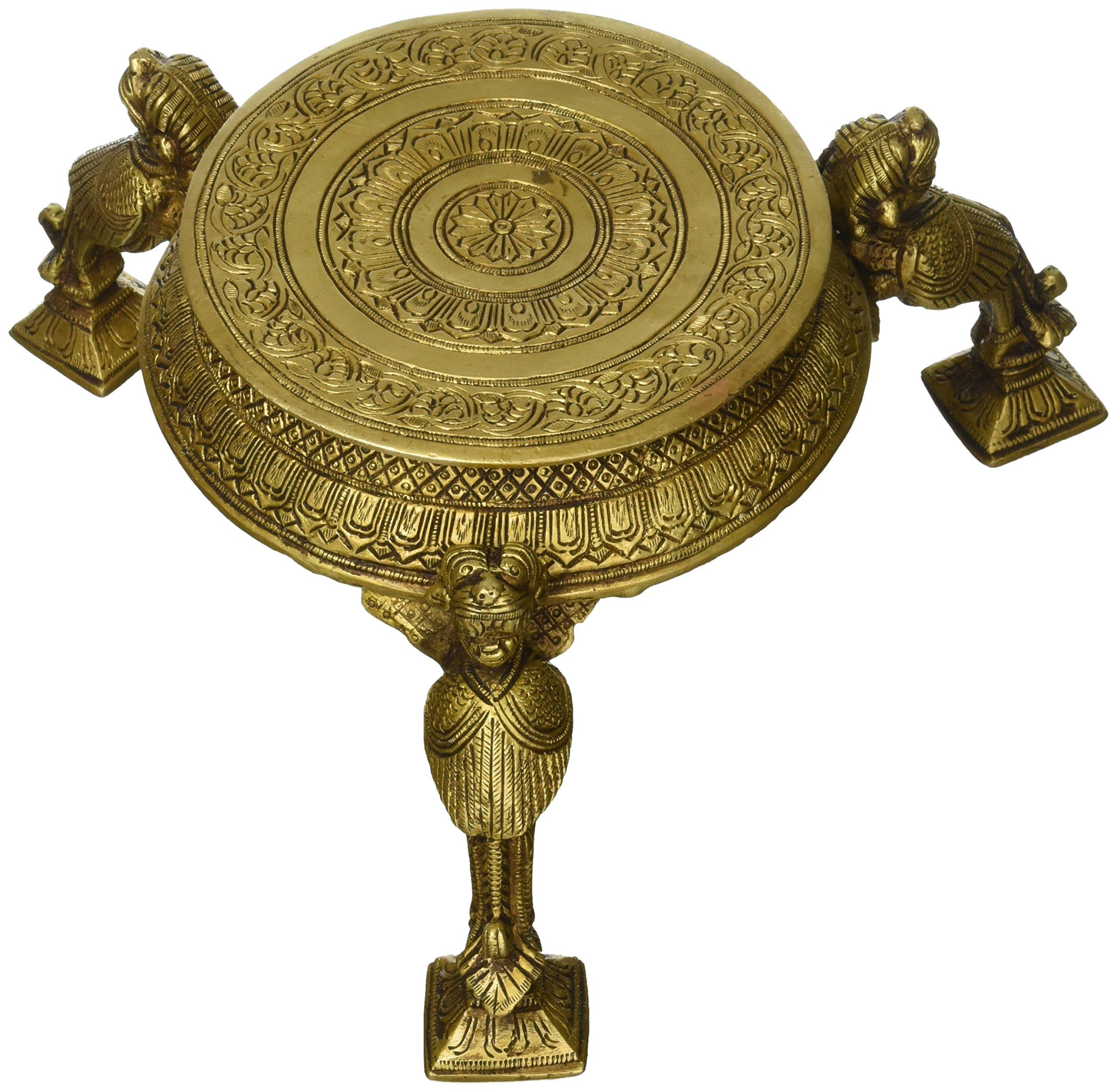 Ritual Chowki (Pedestal) - Brass Statue