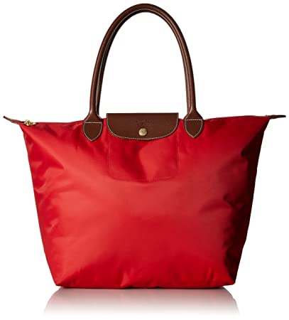 2a110a8dabc8 Amazon.com   Longchamp Large Le Pliage Tote Shoulder Bag Red   Beauty