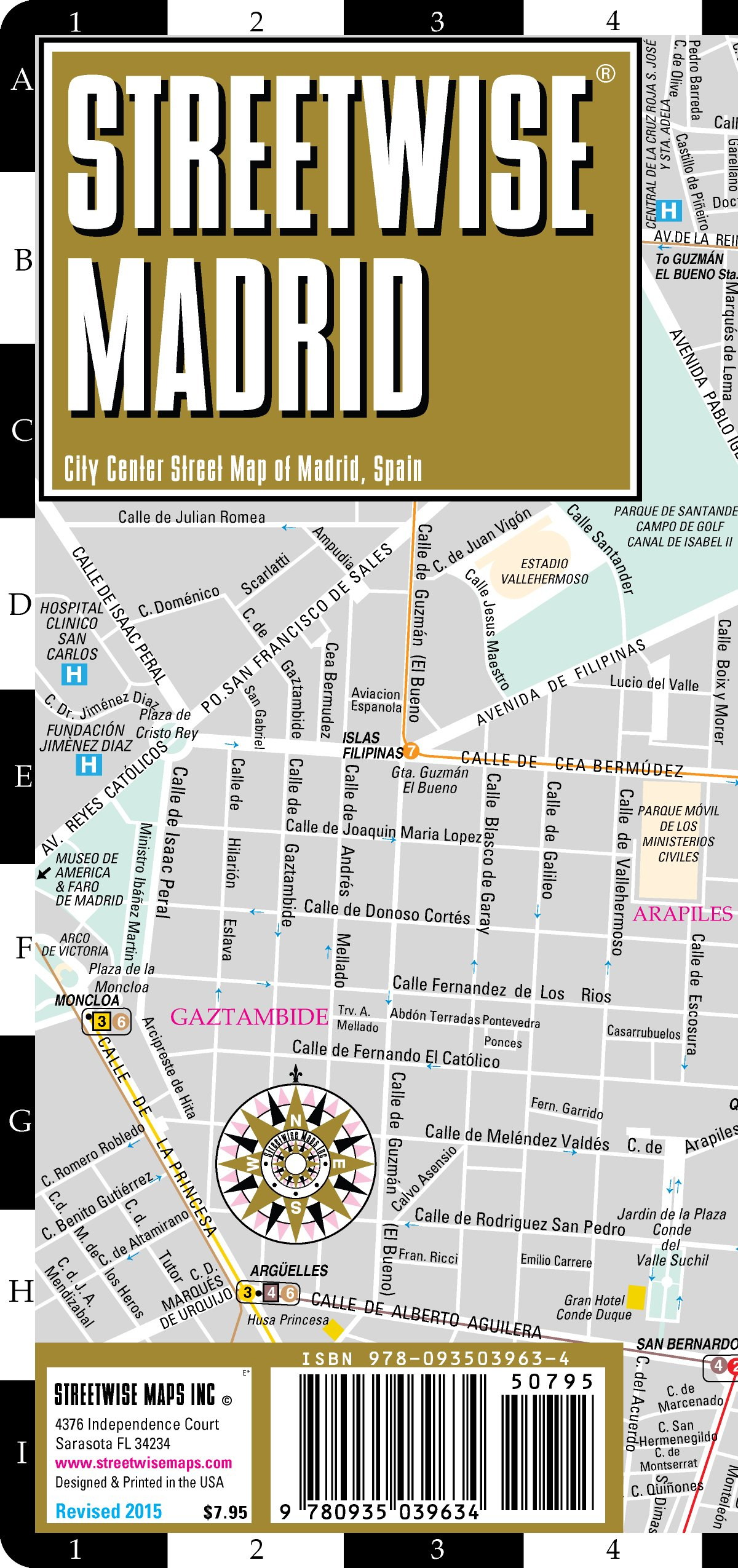 Streetwise Madrid Map - Laminated City Center Street Map of Madrid ...