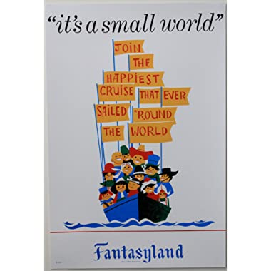 DISNEYLAND RESORT  It's A Small World  Classic Attractions Poster - Disney Parks Exclusive & Limited Availability
