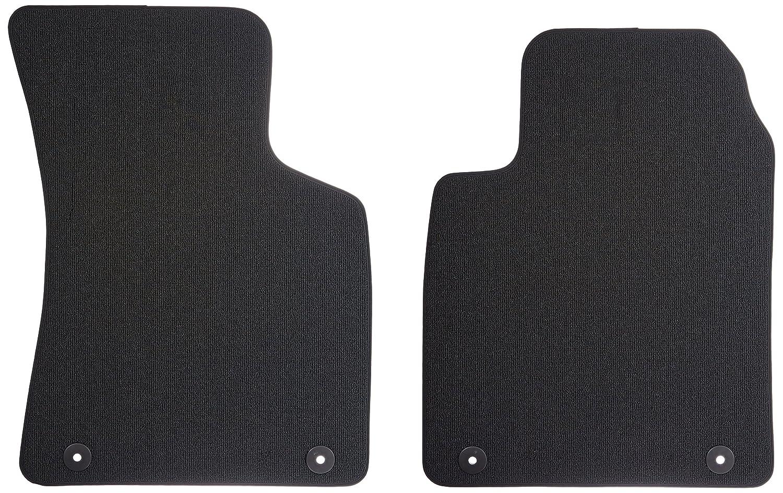 Set of 2 Audi Genuine Accessories 8N1061232EB29G Black Front Carpeted Floor Mat TT,
