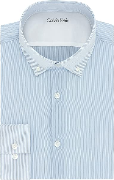 billigaste många stilar bästa pris Calvin Klein Men's Xtreme Slim Fit Stripe Dress Shirt at Amazon ...