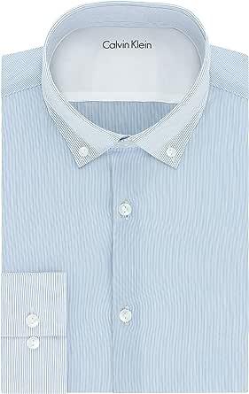 Calvin Klein Men's Xtreme Slim Fit Stripe Dress Shirt