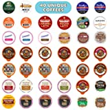 Flavored Coffee Variety Pack, Fully Compatible With All Keurig Flavored K Cups Brewers, 40 Unique Flavored Coffee Pods - Perfect Flavored Coffee Lovers Gift