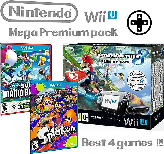 Nintendo Wii U consola Premium Pack 32GB + Mario Kart 8 + Splatoon ...