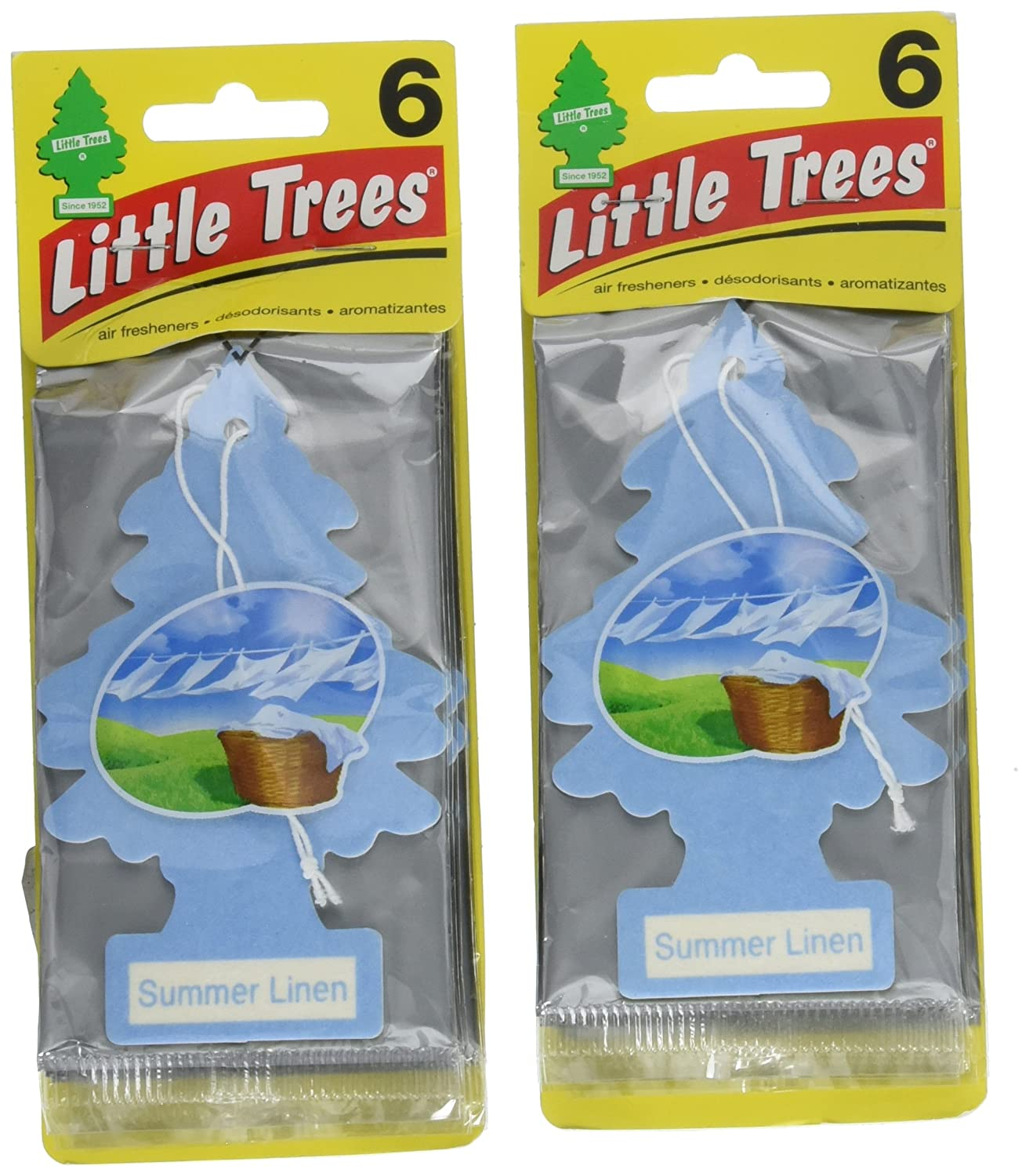 Little Trees 60574-12 Cardboard Hanging Car, Home & Office Air Freshener, 12 Pack Car Freshener