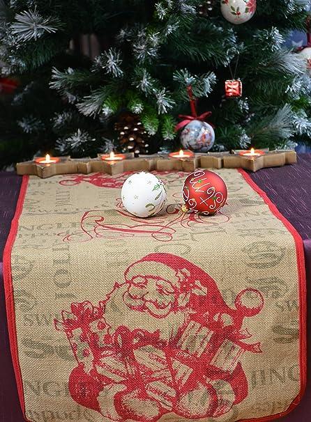 Hossner Camino de Mesa Yute, Navidad, Invierno, Papá Noel, Idea de ...