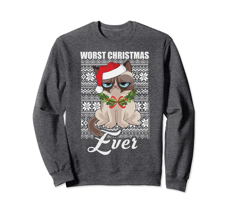 Grumpy Cat Ugly Christmas Sweater.Amazon Com Grumpy Cat Worst Christmas Ever Ugly Sweater