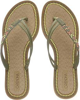 94cf0678967c7e Grendha Women s Acai Tribal Flip Flops Small Heel  Amazon.co.uk ...