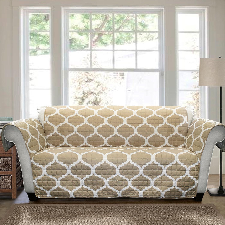 Amazon Lush Decor Geo Furniture Protector Sofa Taupe Home