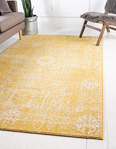 Unique Loom Tradition Collection Classic Southwestern Yellow Area Rug 9 0 x 12 0
