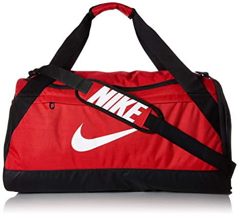 Amazon.com  NIKE Brasilia Duffel Bag, University Red Black White ... 67d2ff2ccf