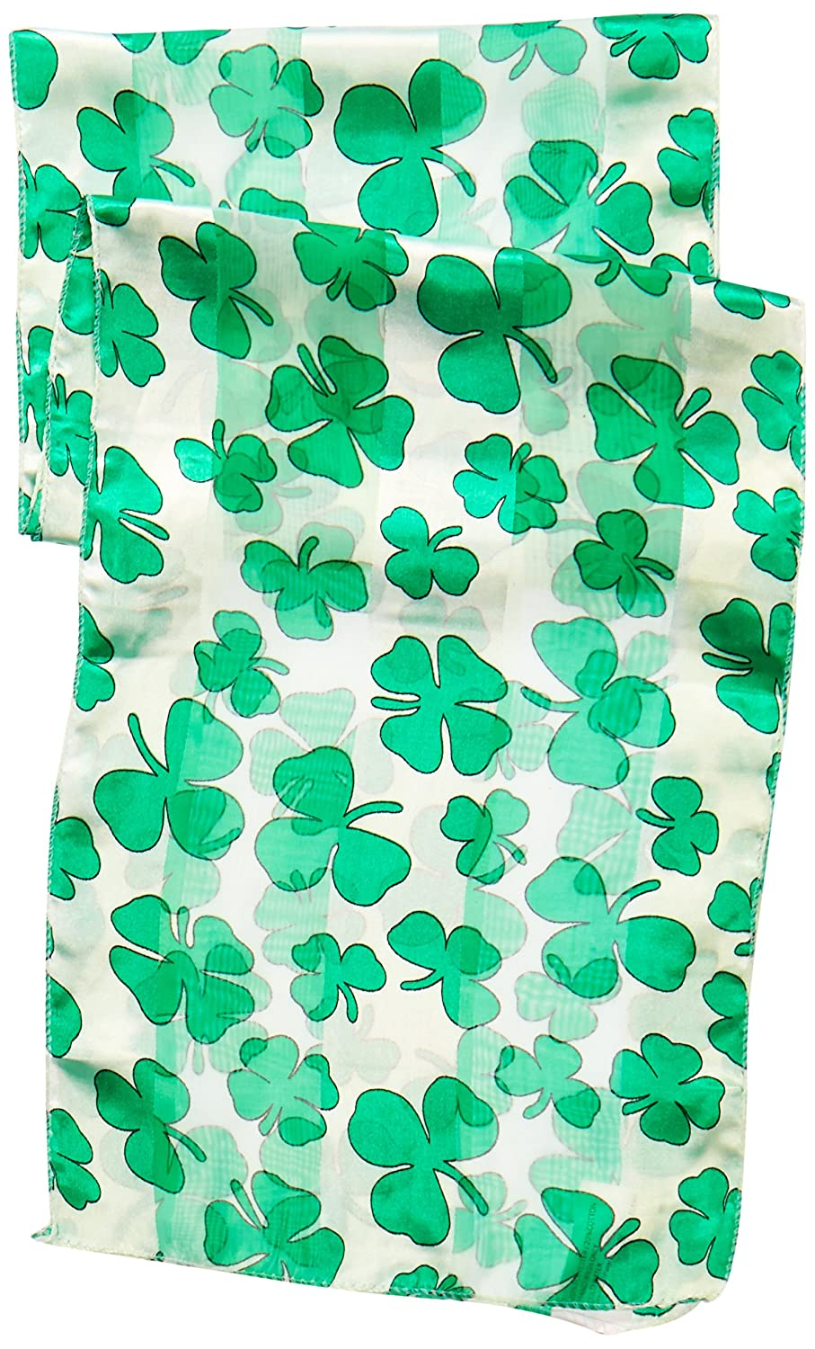 10-Inch by 4-Feet 7-Inch Beistle 30710 Shamrock Scarf