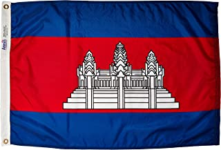 product image for Annin Flagmakers Model 191192 Cambodia Flag Nylon SolarGuard NYL-Glo, 2x3 ft, 100% Made in USA to Official United Nations Design Specifications