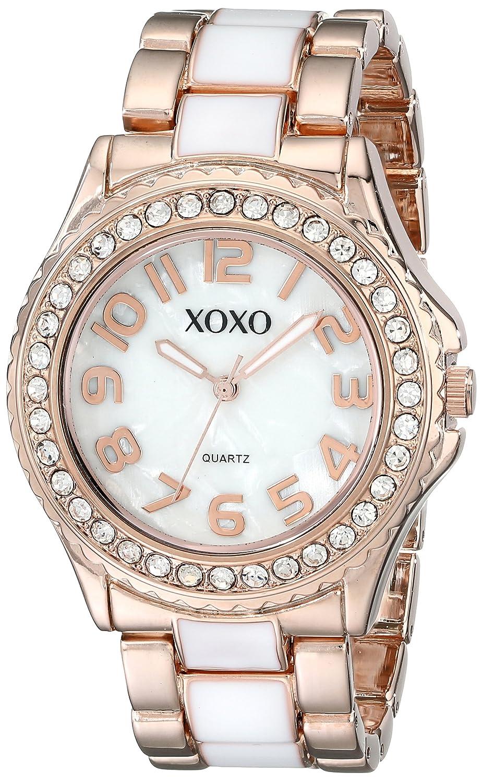 Xoxo womens xo5472 rose gold tone and white epoxy bracelet watch ebay for Watches xoxo