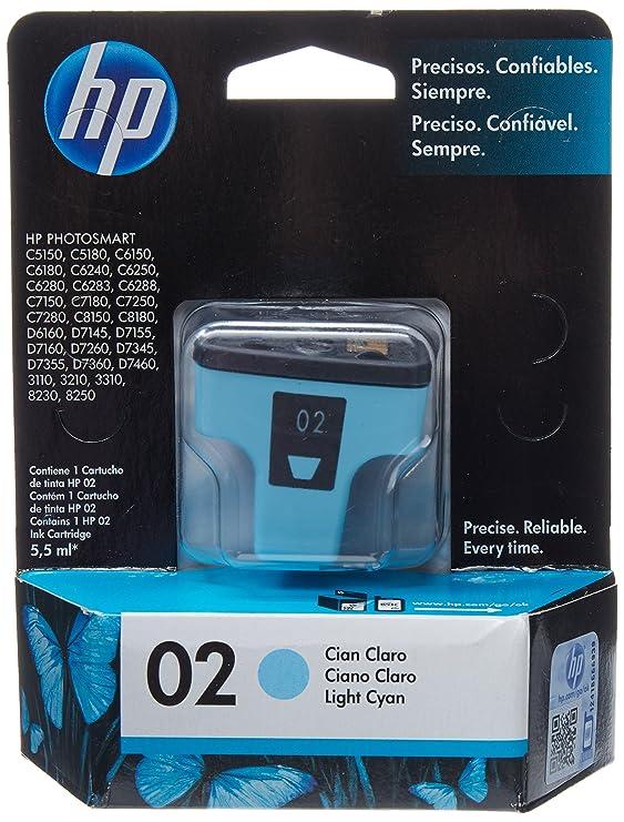 HP 02 Light Cyan Ink Cartridge, 10-80%, -40-158 °C, 5-40 °C, 10-80 ...