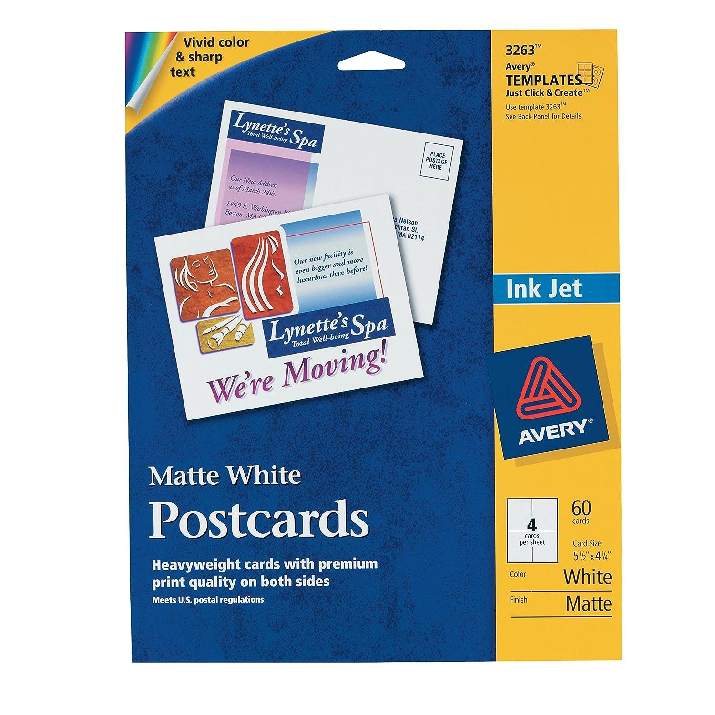 Amazon.com : Avery Postcards for Inkjet Printers, 5.5 x 4.25 ...