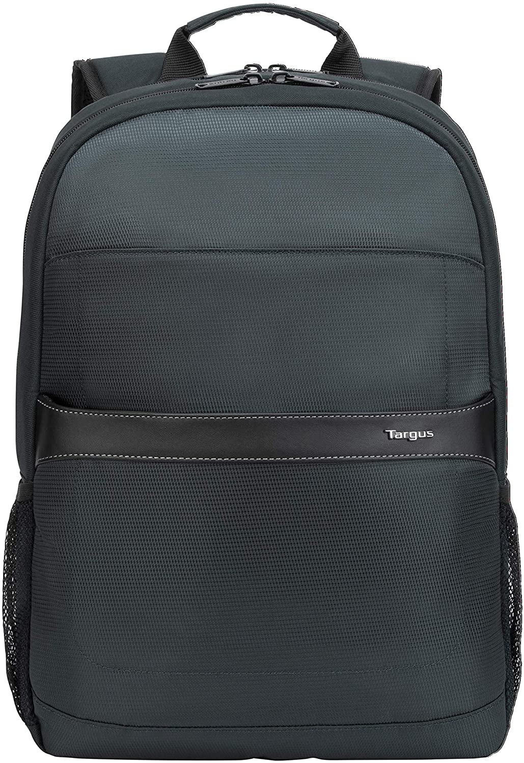 Targus GeoLite Advanced Modern Backpack for Sleek Professional Travel with Durable Water-Repellent, Padded Back Support, Trolley Strap, Protective Sleeve fits 12-15.6-Inch Laptop, Black (TSB96201GL)