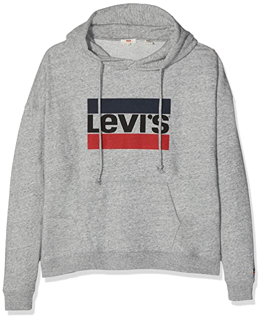 Levis Plus Size Pl Graphic, Capucha para Mujer, Gris (Plus Sportswear Logo Hoodie