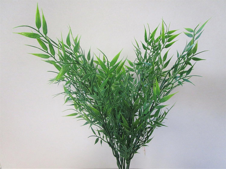 FLORIST SUPPLIES 53cm Artificial Large Plastic Bamboo Leaf Bush Green