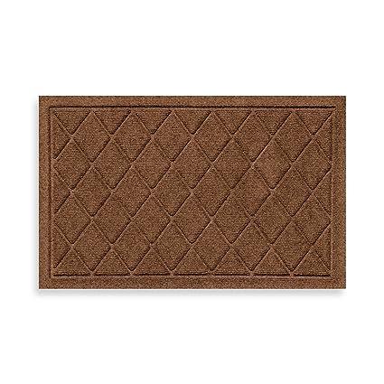 Weather Guard™ 18 Inch X 28 Inch Argyle Door Mat In Dark Brown
