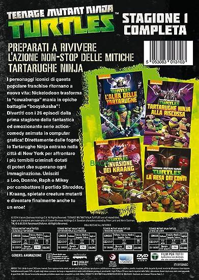 Teenage Mutant Ninja Turtles - Stagione 1 Completa 4 DVD ...