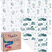 Elka & Finch Baby Burp Cloths. Extra Large, Thick and Absorbent (Pack of 3). Terry Cloth and Cotton Jersey. Unisex…