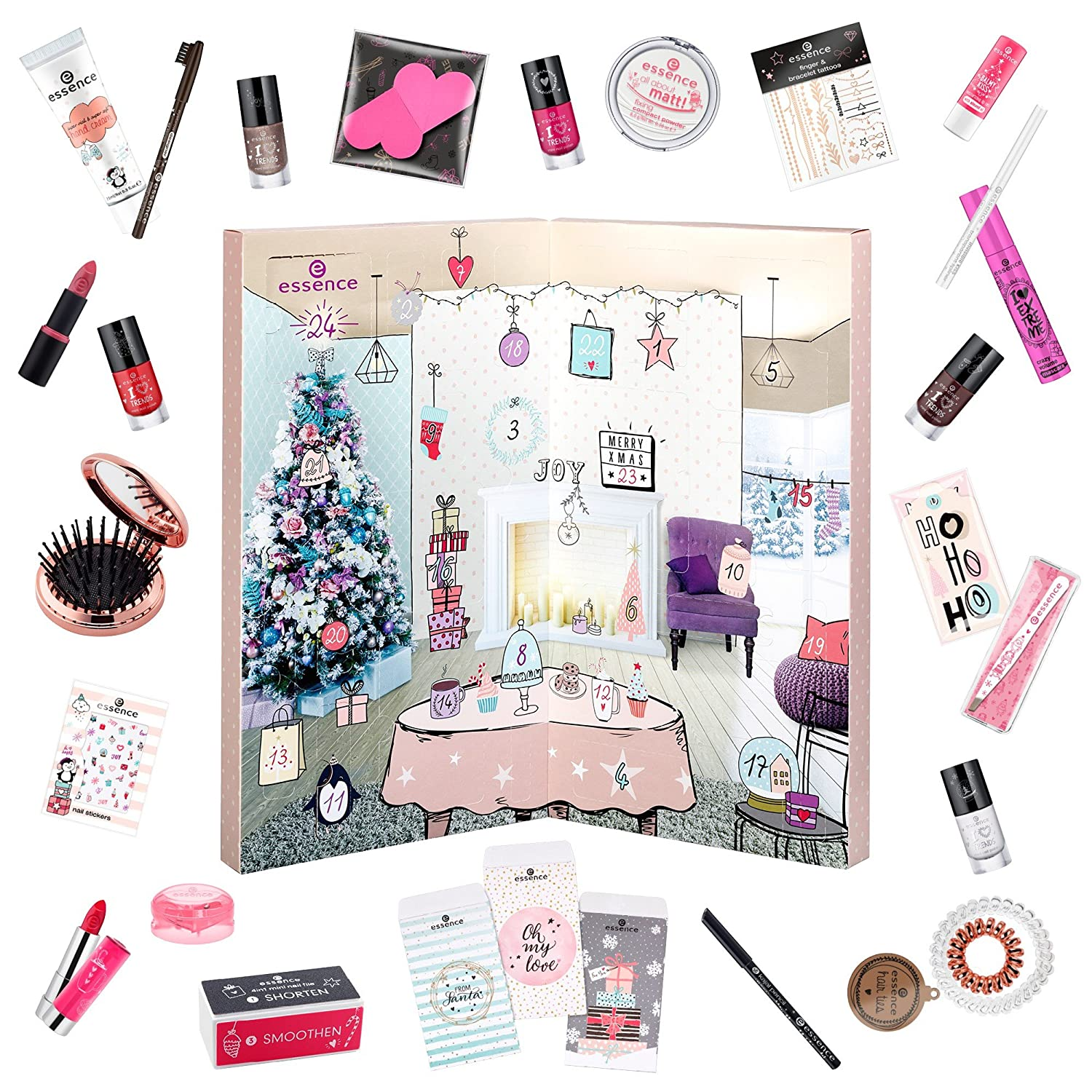 Calendario Avvento Essence.Essence Advent Calendar Beauty Make Up Cosmetic 24