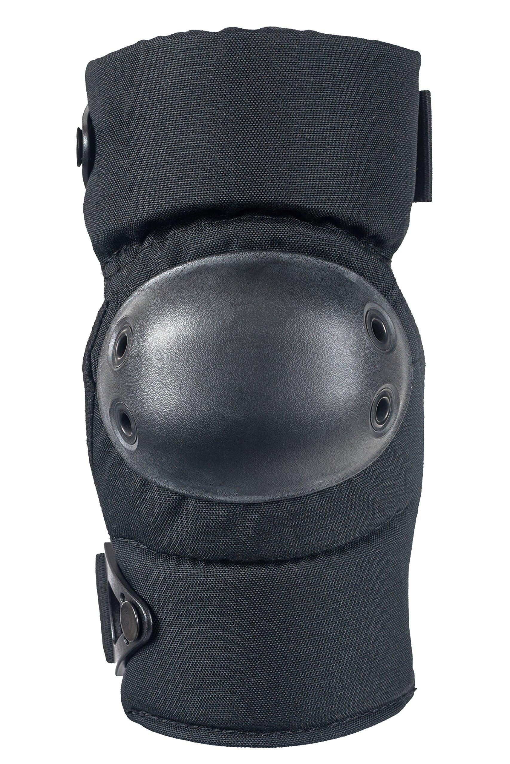 ALTA 53113.00 AltaCONTOUR Elbow Protector Pad, Black Cordura Nylon Fabric, AltaLOK Fastening, Flexible Cap, Round, Black