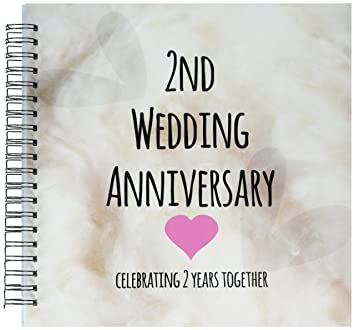 3dRose Db 154429 2 2nd Wedding Anniversary Gift Cotton Celebrating Years Together Second Anniversaries Two