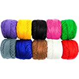 Knitting Yarn by Kurtzy- 10 Pack Crochet Yarn Wool Knit Plain Design Thick Yarn in an Assortment of Colours - Cotton Threads for Knitting Projects and Applique - 50 Grams - 470 Metres of Cotton Yarn
