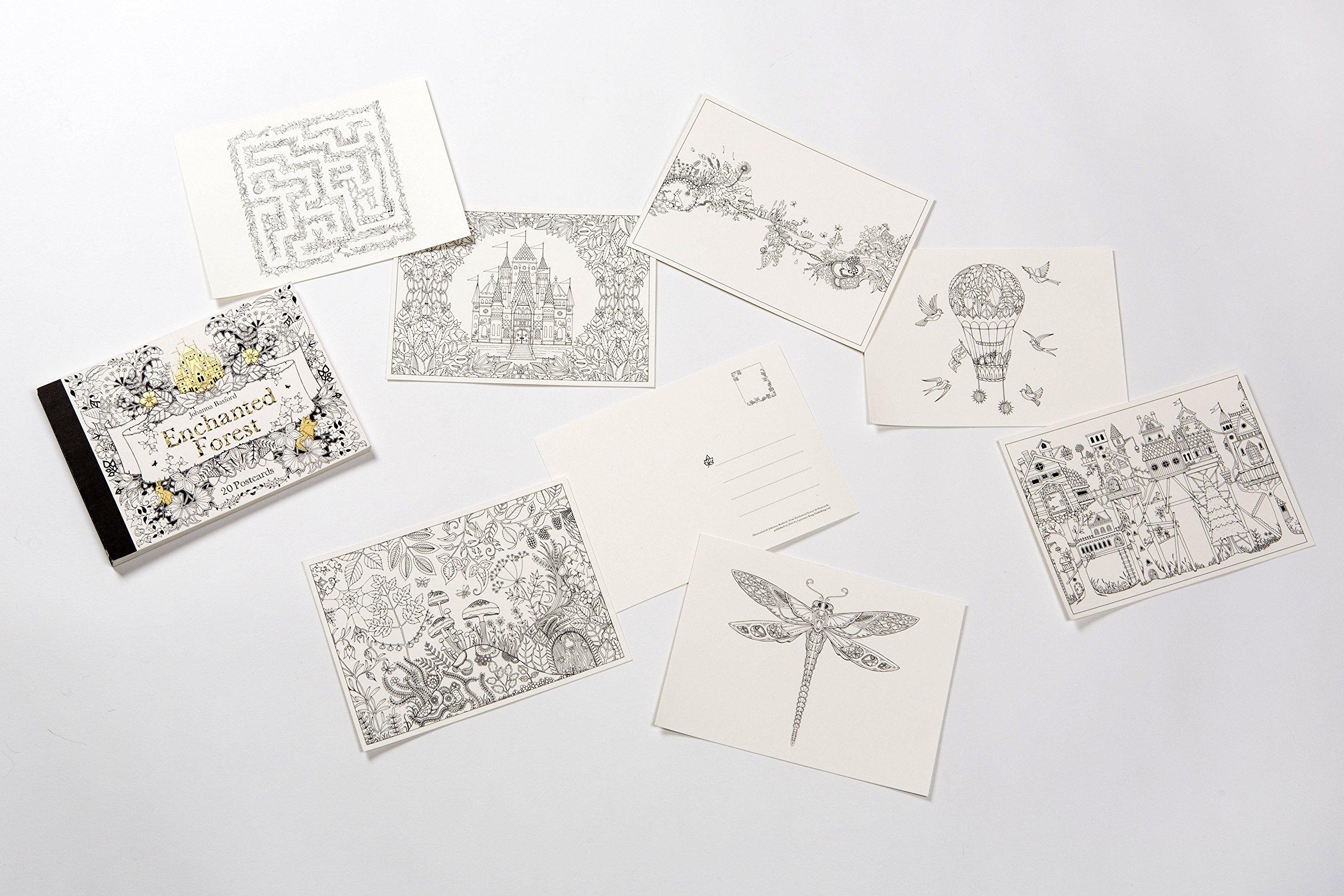 Amazon Enchanted Forest Postcards 20 9781856699792 Johanna Basford Books