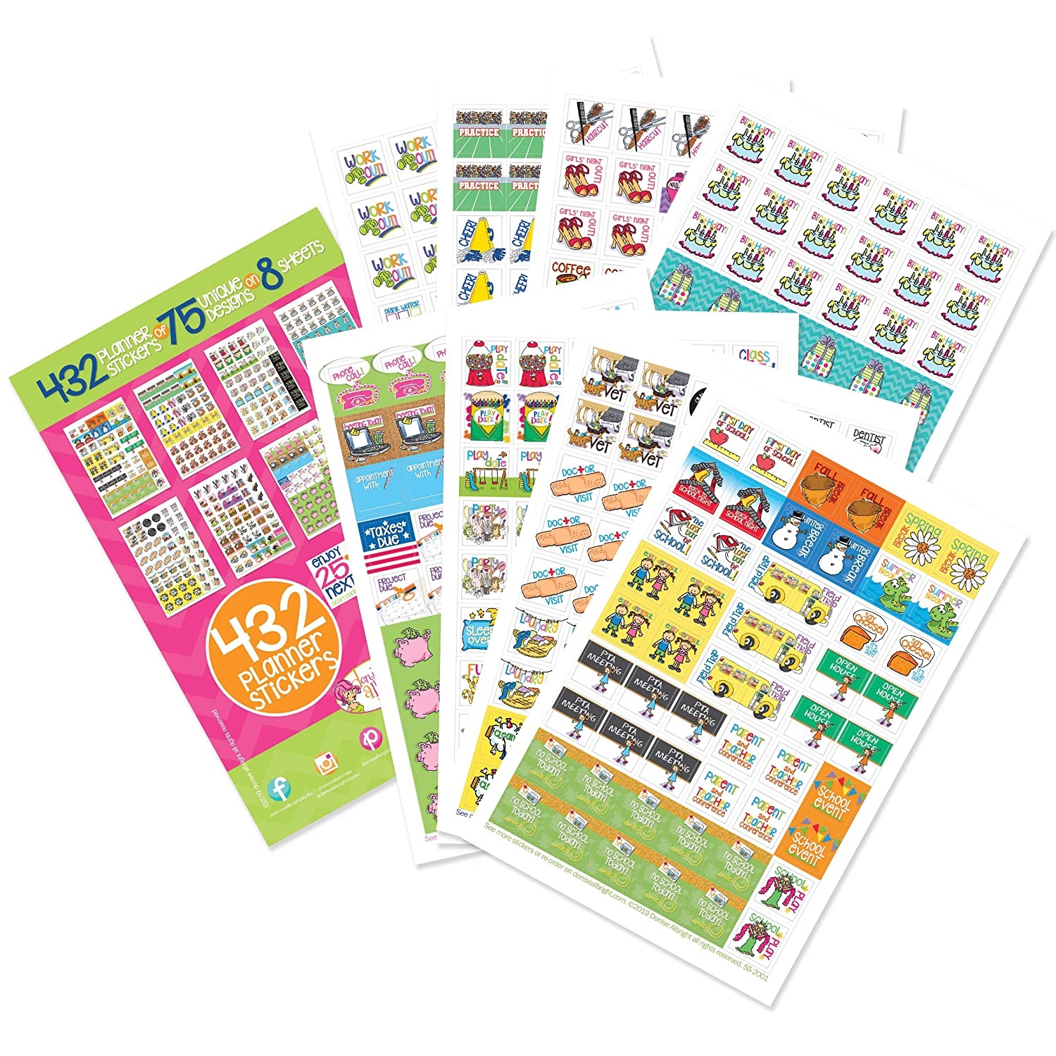 photo about Free Printable Qdro Forms referred to as 432 Planner Stickers - Chaotic Mother Selection for Calendars, Planners. Appointment Reminder Stickers, Health professionals, Faculty, Birthdays, Enjoy Dates, Gatherings,