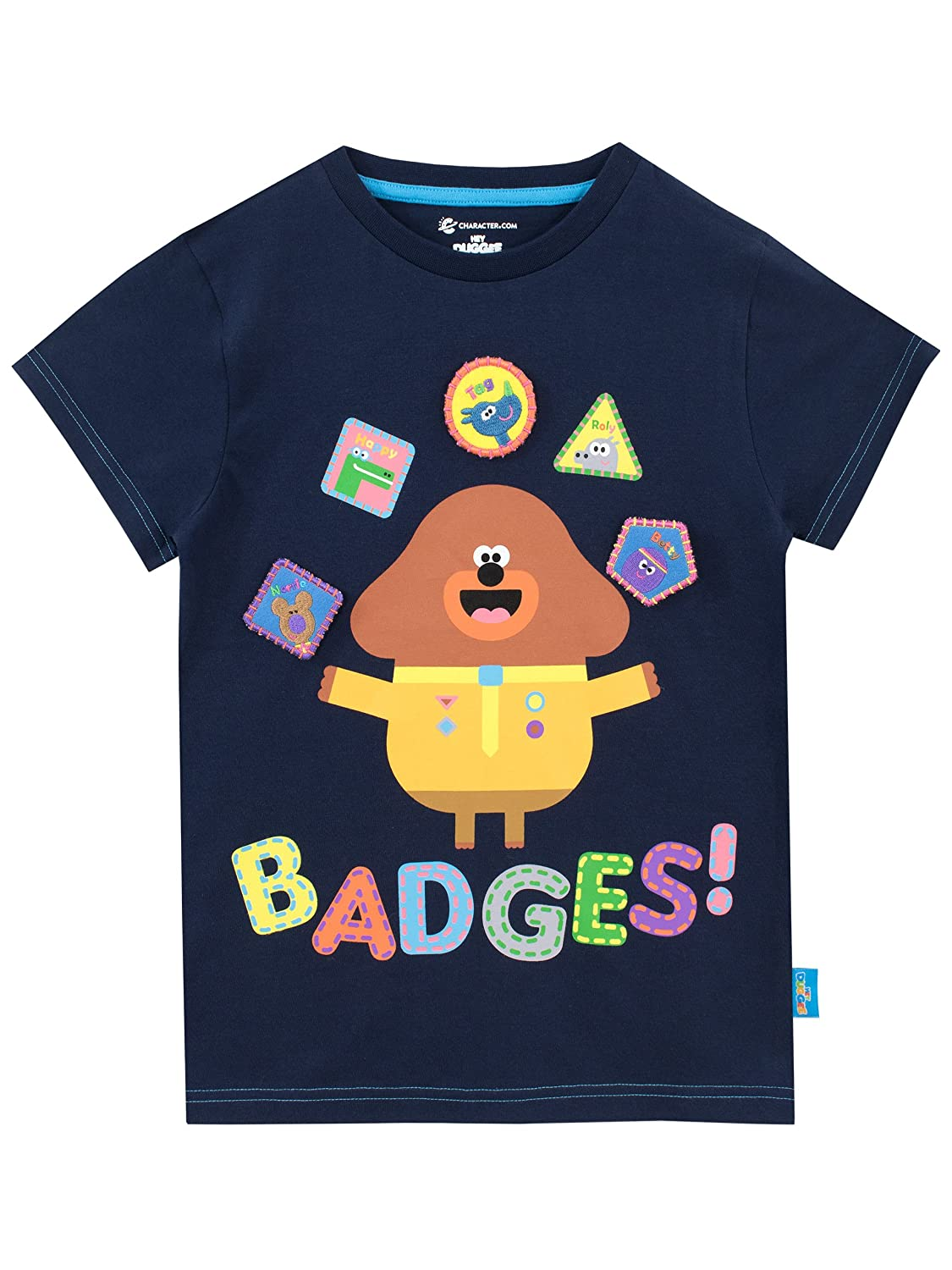 Hey Duggee Boys T-Shirt Squirel Club Ages 12 Months to 7 Years
