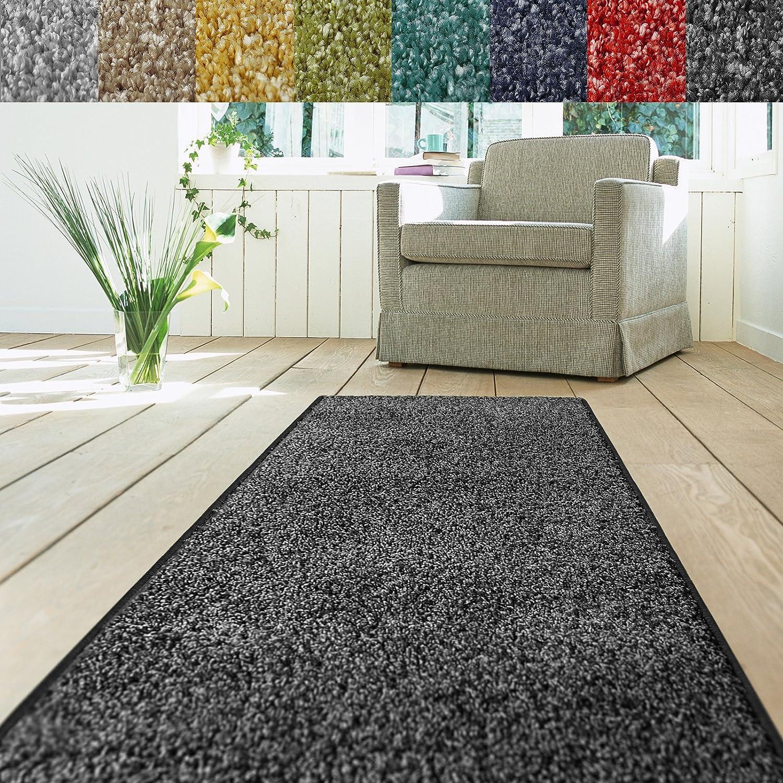 Teppich Läufer Luxury | moderne Shaggy Optik mit flauschigem ...
