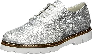 Gabor Shoes Fashion, Derby Femme - Argent (Ice 71), 42.5 EU
