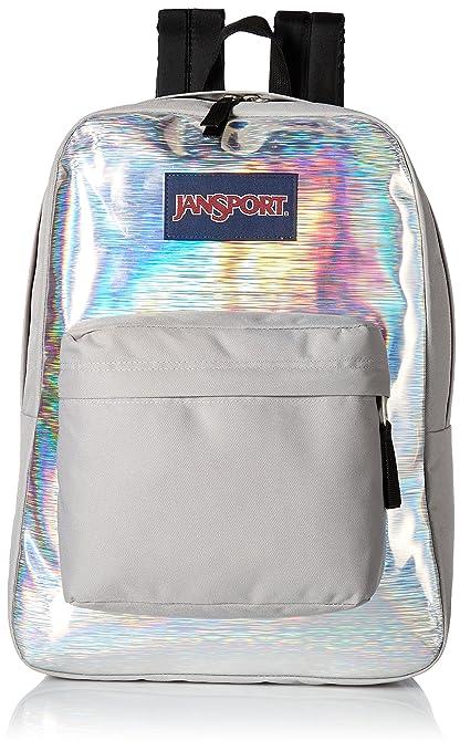 1df109415419 Jansport 25 Ltrs Silver Hologram School Backpack (JS00TRS735G)  Amazon.in   Bags