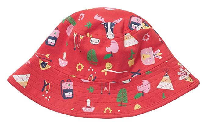 d377ed0e722 Piccalilly Organic Cotton Red and White Striped Girls Reversible Summer Sun  Hat  Amazon.co.uk  Clothing