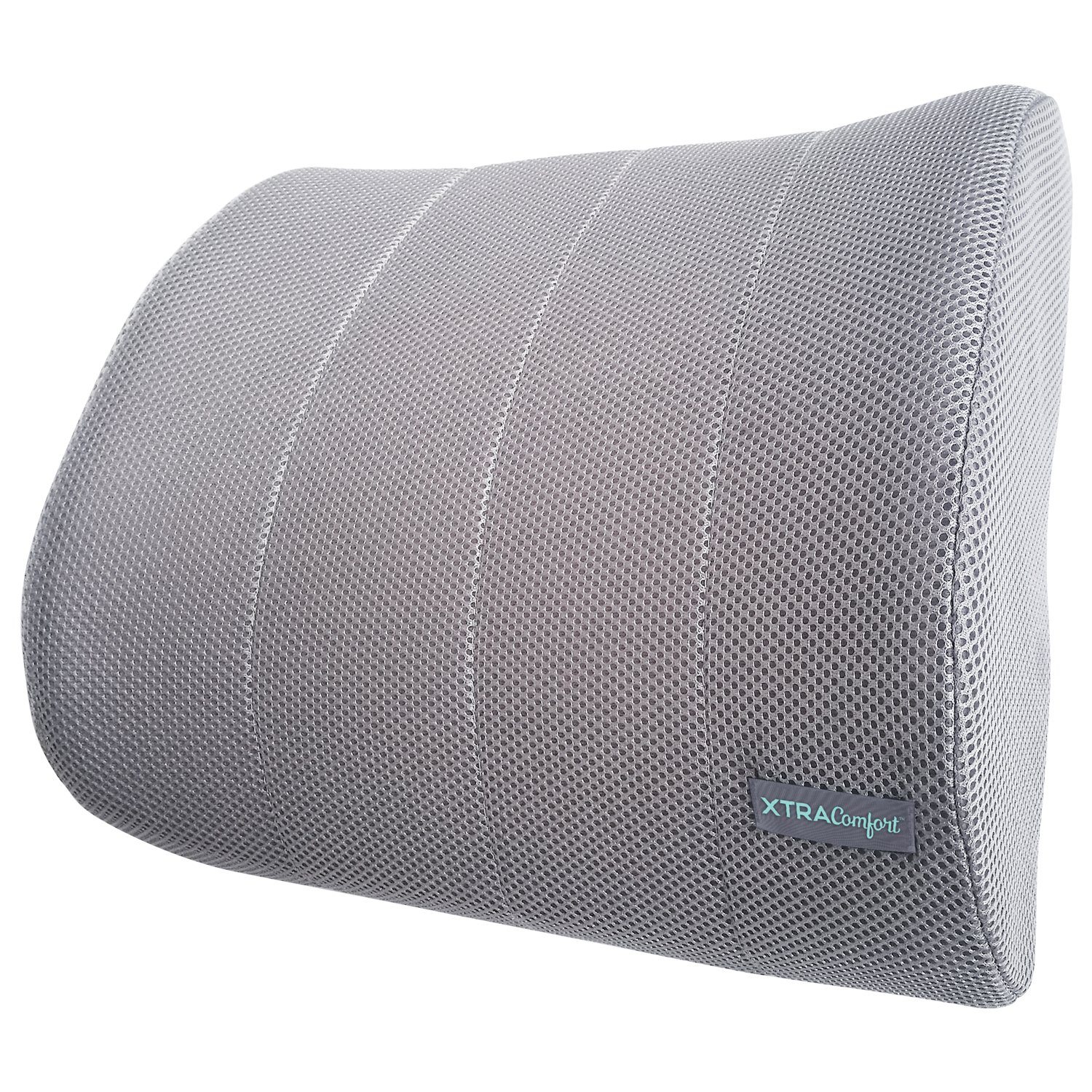 Xtra-Comfort Mesh Lumbar Support - Lower Back Seat Pillow - For Office Chairs, Car, Travel, Gaming - Orthopedic Therapeutic Backrest Cushion, Plus Strap - Firm Foam Roll Ergonomic Low Rest Pad