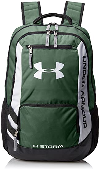 Under Armour Hustle Storm Backpack - Forest Green 301  Amazon.co.uk ... 024839ae1ba68