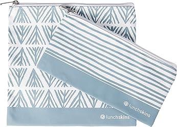 Lunchskins LS4-TOTE-STRIPE-NAV Reusable Tote Navy Blue Stripe