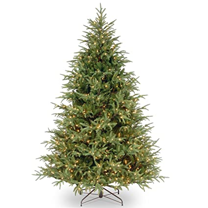 Real Christmas Tree.National Tree 7 5 Foot Feel Real Frasier Grande Tree With 1000 Clear Lights Hinged Pefg3 308 75