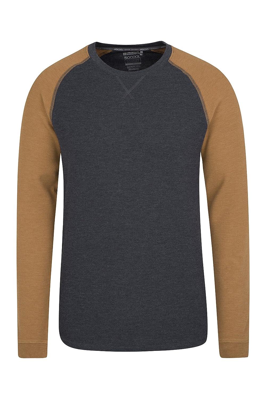 Mountain Warehouse Waffle Long Sleeve Mens T-Shirt - Round Neck Tee